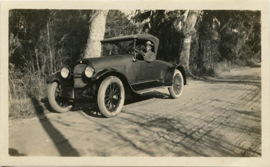 Herbert Ulysses Seabrook, Sr., Seated in Sedan, circa 1930s