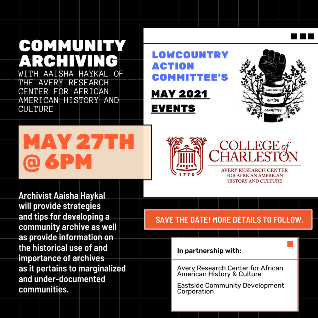 flyer for community archiving event