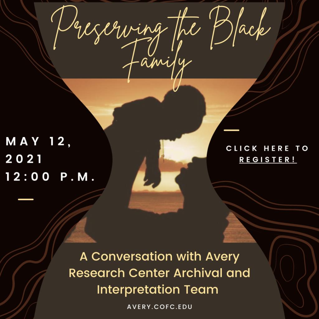 flyer for program preserving the Black family