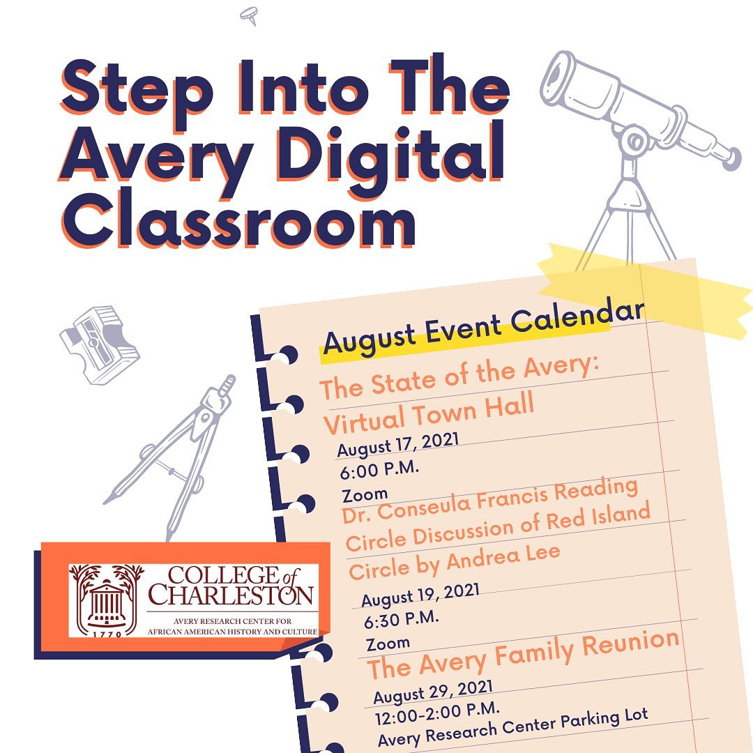 Flyer for the Avery Digital Classroom for August 2021